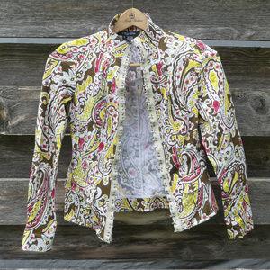 ETCETERA Women's Floral Blazer Blouse